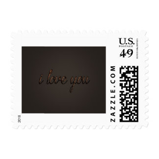 """I love you"" Chocolate Style Postage"