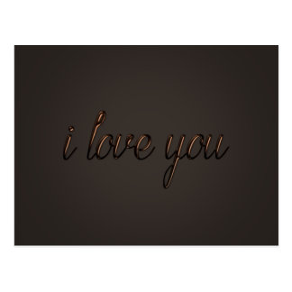"""I love you"" Chocolate Style Postcard"