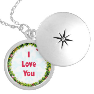I Love You Christmas Locket Necklace
