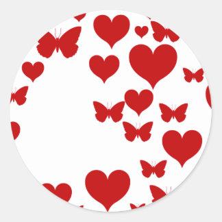 I Love You Classic Round Sticker
