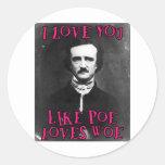 I love you... classic round sticker