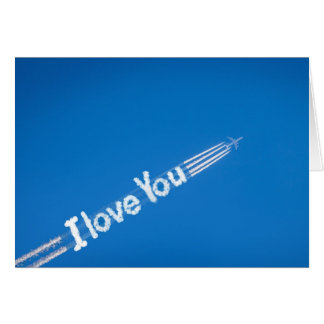 I love You Clouds Valentines Day Card