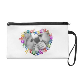 I love you cluch wristlet