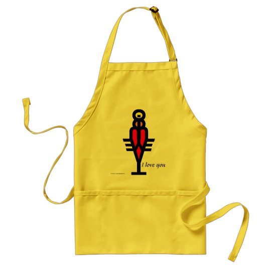 I LOVE YOU, Cookie Adult Apron