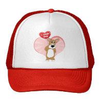 I Love You Corgi Hat