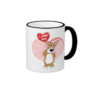 I Love You Corgi Mug