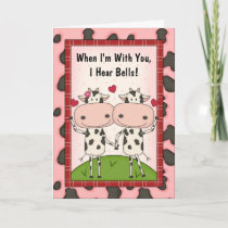 I Love You - Cows Card
