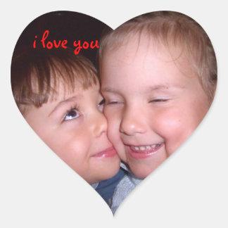 I love you! Cumbre love Calcomanías De Corazones