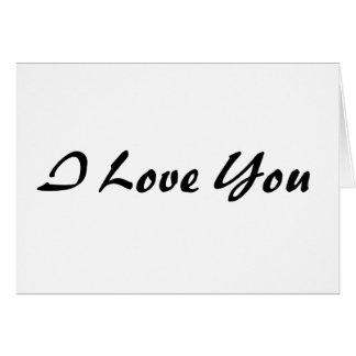 I Love You - Customized Card