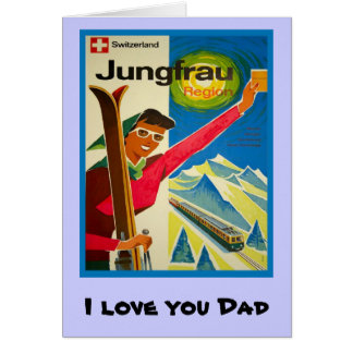 I love you Dad, 2 Greeting Card