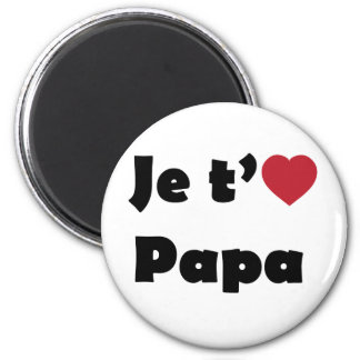I Love You Dad 2 Inch Round Magnet
