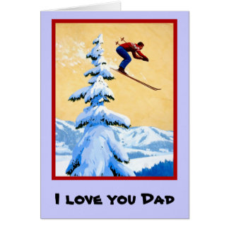 I love you Dad, 3 Greeting Card