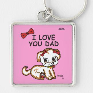 I Love You Dad Angel Keychain