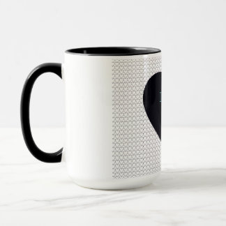 """I Love You Dad"" black heart mug"