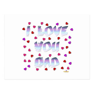 I Love You Dad Candy Postcard