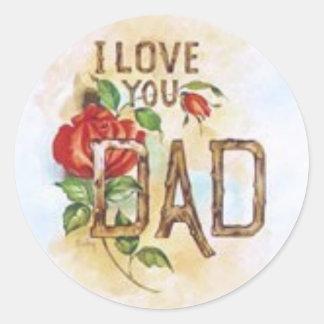 I love you, Dad Classic Round Sticker