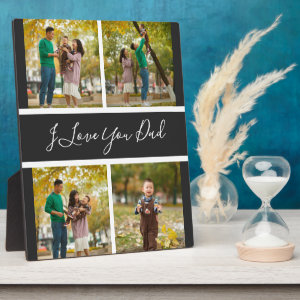 I love you dad Custom Photo collage Frame gift