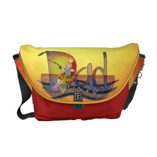 I love you dad  fishing illustration messenger bag