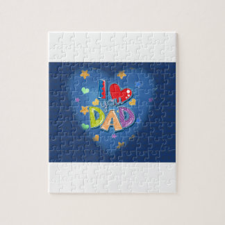 I Love You Dad Jigsaw Puzzle