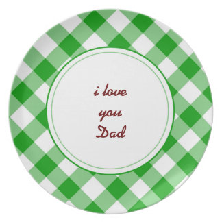 i love you Dad Plate