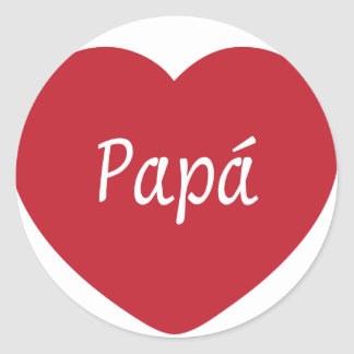 I Love You, Dad Round Stickers