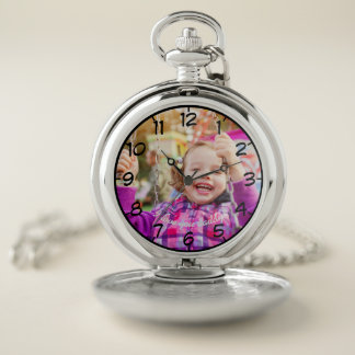 I love you daddy! Custom Photo & Message Pocket Watch