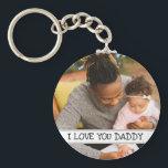 """I Love You Daddy Personalized Photo Keychain<br><div class=""""desc"""">I Love You Daddy Personalized Photo keychain</div>"""