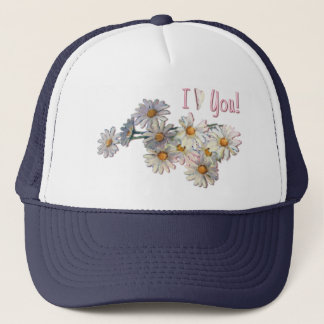 I LOVE YOU DAISIES by SHARON SHARPE Trucker Hat