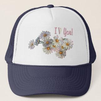 I LOVE YOU DAISIES by SHARON SHARPE Trucker Hat