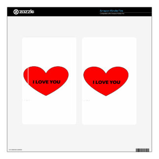 i love you decal for kindle fire