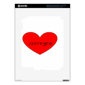 I LOVE YOU DECALS FOR iPad 3