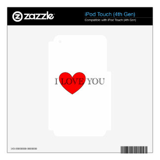 I LOVE YOU DECALS FOR iPod TOUCH 4G