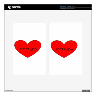I LOVE YOU DECALS FOR KINDLE FIRE