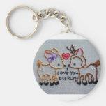 i love you deerly key chain