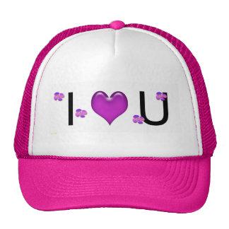 I Love You Designed Hat