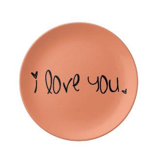 'I love you' Dinner Plate