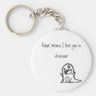 I love you dinosaur key chains