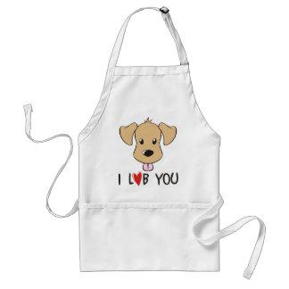 I Love You - Dog Labrador Theme Adult Apron