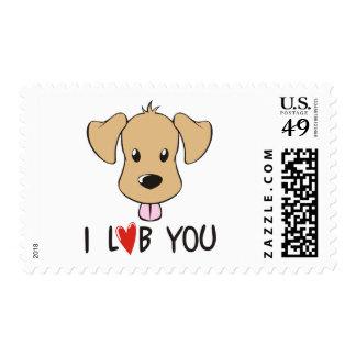 I Love You - Dog Labrador Theme Postage