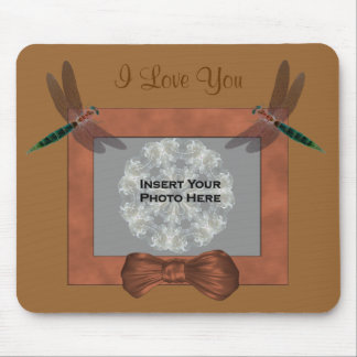 I Love You Dragonflies Add Photo Mousepad