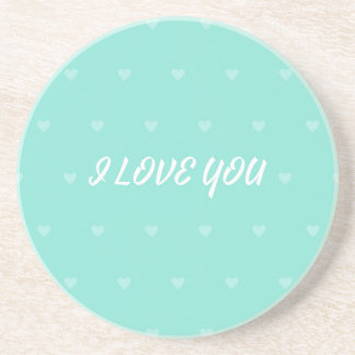 I LOVE YOU DRINK COASTER