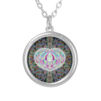 I Love You Earth Heart Art Necklace