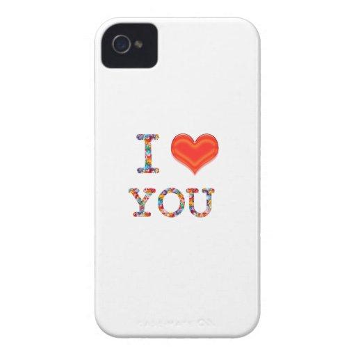 I LOVE YOU : Elegant Script of Love n Romance GIFT iPhone 4 Cover