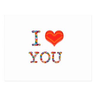 I LOVE YOU : Elegant Script of Love n Romance GIFT Postcards