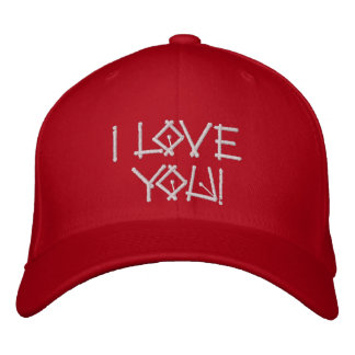 I love you embroidered hat