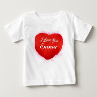 I Love You Emma Heart Baby T-Shirt