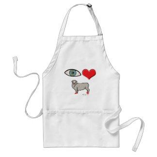 I Love You - Eye Heart Ewe Adult Apron