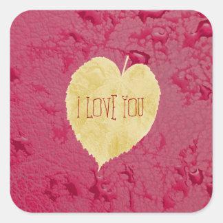I love You - fall sticker