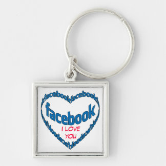 I Love You FB Square Key Chains
