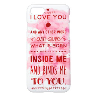 """""""I Love You"""" First Verse Funky Chic iPhone 7 Case"""